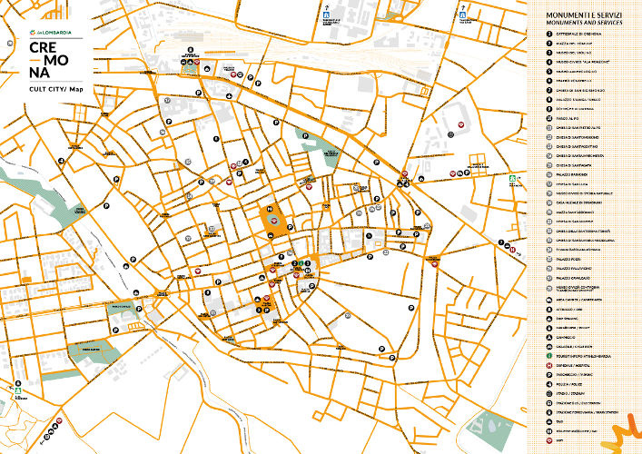 City map EDT In Lombardia