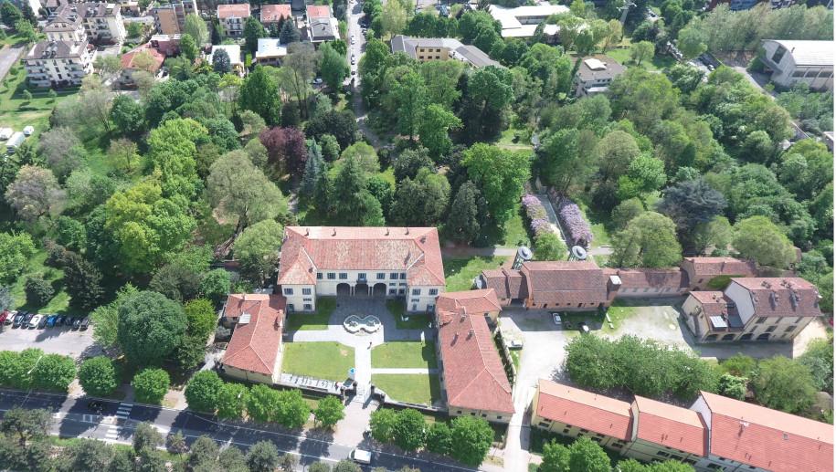 Villa Burba Medici Cornaggia vista dall'alto
