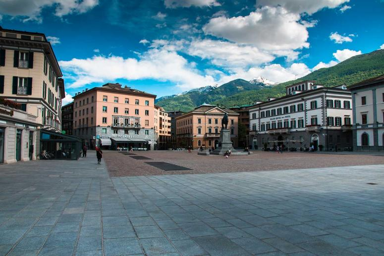 Piazza Garibaldi en Sondrio