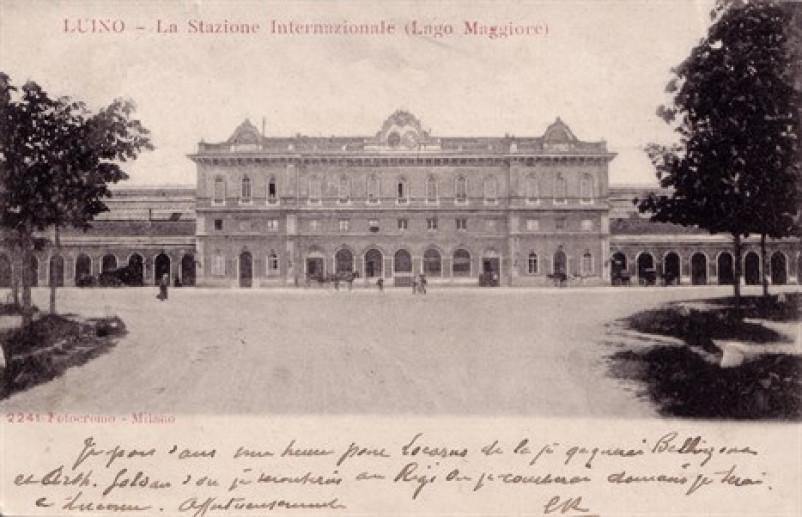 Foto d'epoca stazione Luino
