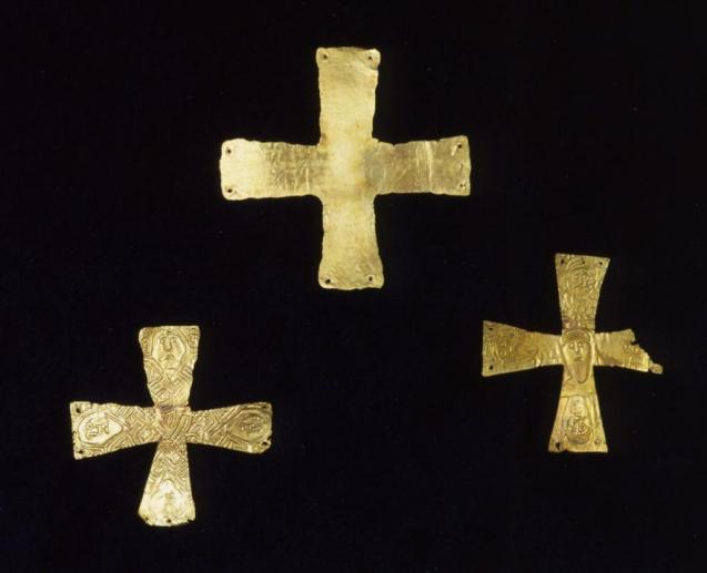 Croci funerarie d'oro longobarde