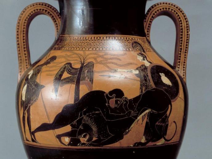Psiax, anfora attica a figure nere, detta di Vulci
