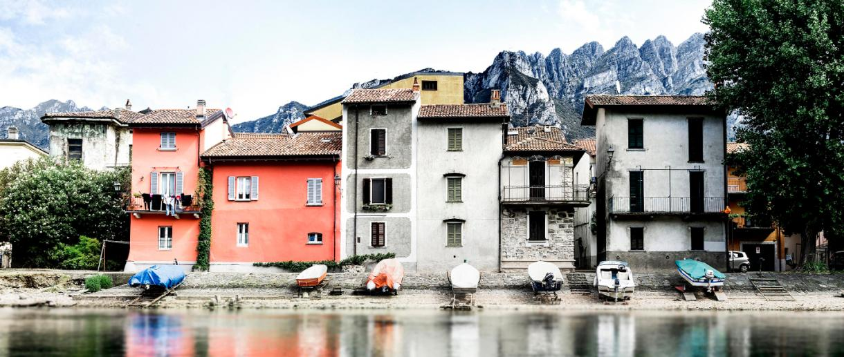 Pescarenico district of Lecco