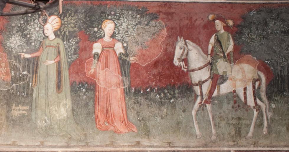 Dettaglio degli affreschi