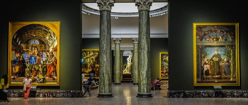 Un tour virtuale alla Pinacoteca di Brera