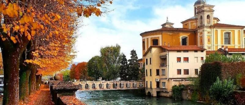 Il fiume Oglio tra la Provincia di Brescia, Bergamo e Cremona