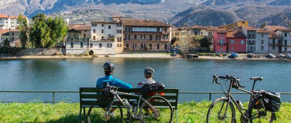 In bici dalla Valtellina al Cremonese