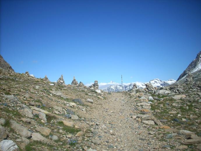 Il passo del Muretto tra Valtellina e Grigioni