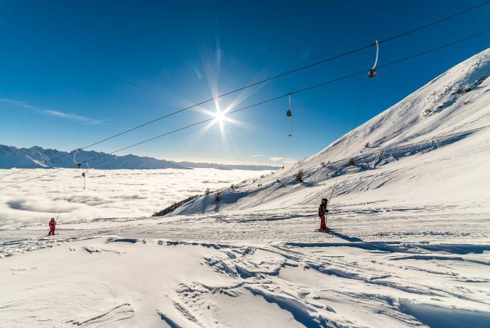 Skiing in Teglio