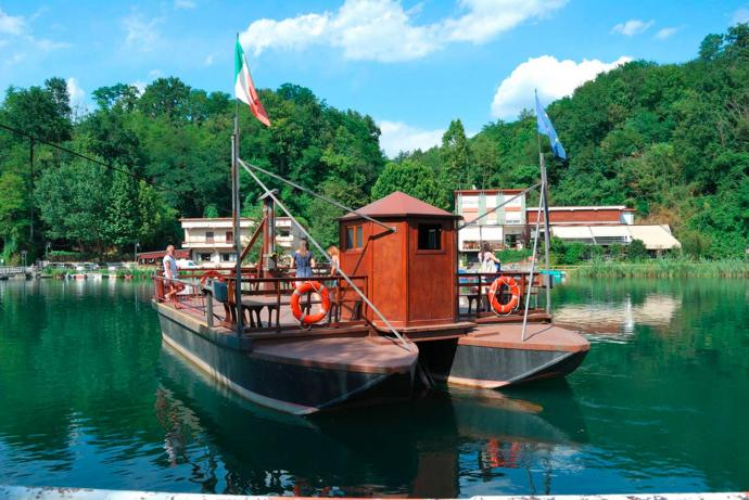 The Leonardo Ferryboat in Imbersago