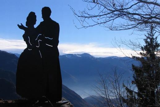 La leggenda del salto degli sposi e castel orsetto, nel bosco incantato