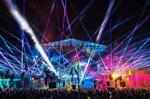 Laser Show sul Lago di Como