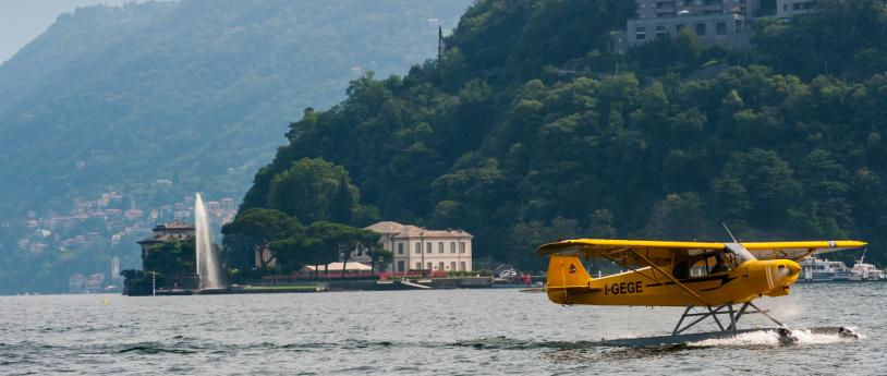 Flying Over Lake Como