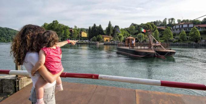 Traghetto di Leonardo - Villa D'Adda
