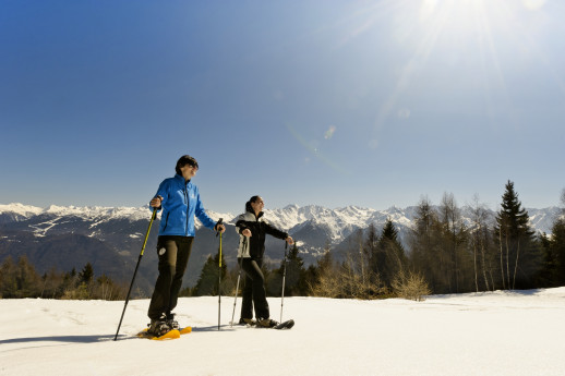 Snowshoe walking in Prato Valentino: Anello Verdomana