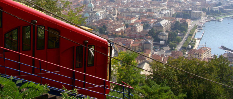 Up and down on a funicular: the panorama seen from the sky