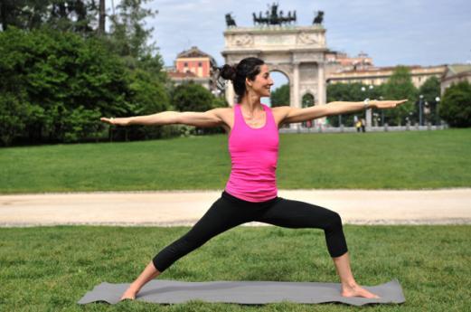 Yoga in Parco Sempione