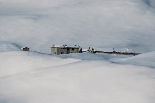 Al Passo dell'Asino immersi nella neve