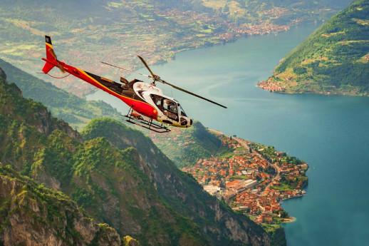 Lago d'Iseo in elicottero