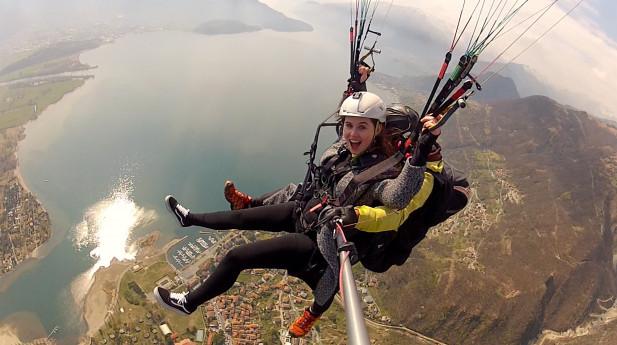 PARAPENDIO BIPOSTO - Volo Tandem sul Lago di Como