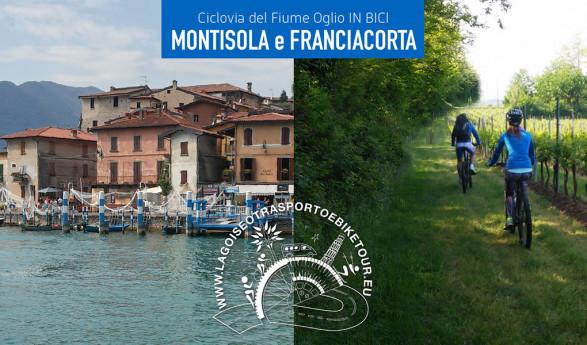 Andando in bicicletta tra Montisola e Franciacorta.