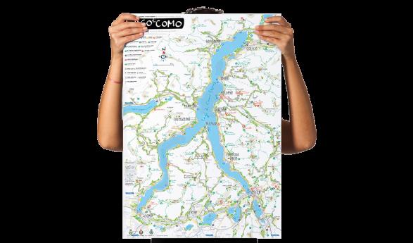 Il poster illustrato del Lago di Como