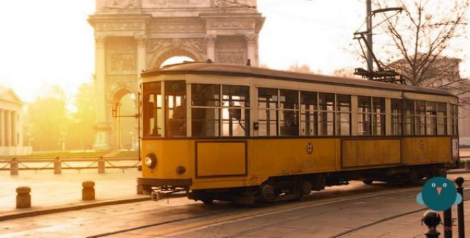 Risotto allo Zafferano sul tram storico di Milano