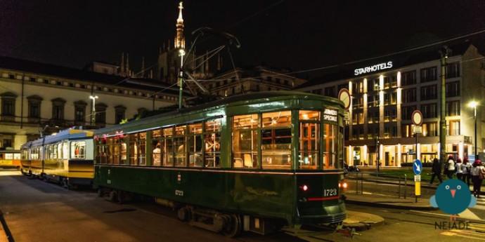 Tour notturno sul tram storico con le coperte