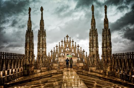 Il Duomo sotto-sopra