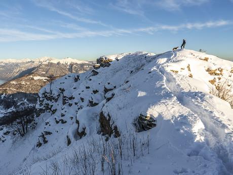 Sulla neve al Rifugio Prabello