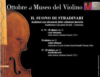 Ottobre al Museo del Violino - Il Suono di Stradivari - Audizioni strumenti collezioni storiche - Aurelia Macovei