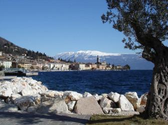 Towards Lake Garda across the plain of Brescia