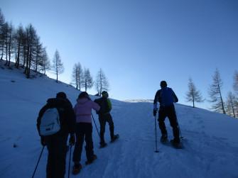 Ciaspolata al Cimone di Margno in notturna con guida alpina