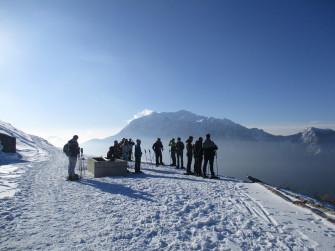 Ciaspolata al Cimone di Margno con guida alpina