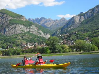 Kayak sul fiume Adda