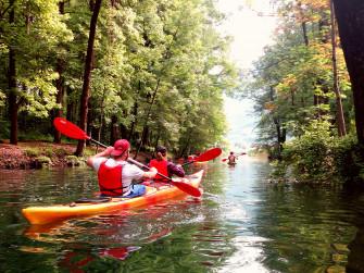 Kayak sul lago d'Endine