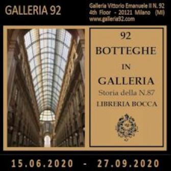 92 BOTTEGHE in GALLERIA - Storia della N.87 LIBRERIA BOCCA
