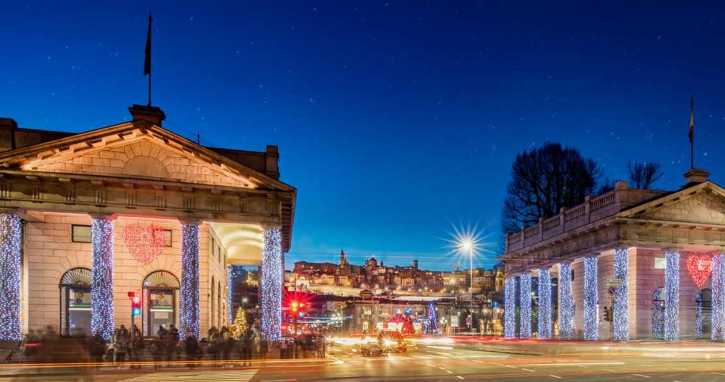 La magia del Natale in centro a Bergamo