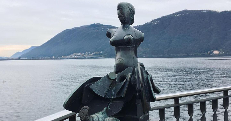 """Bodini: """"Ritratto della Madre"""" a Campione d'Italia (ph ig: @perfectly_honest)"""