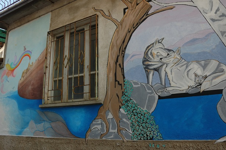 Murales sulle abitazioni
