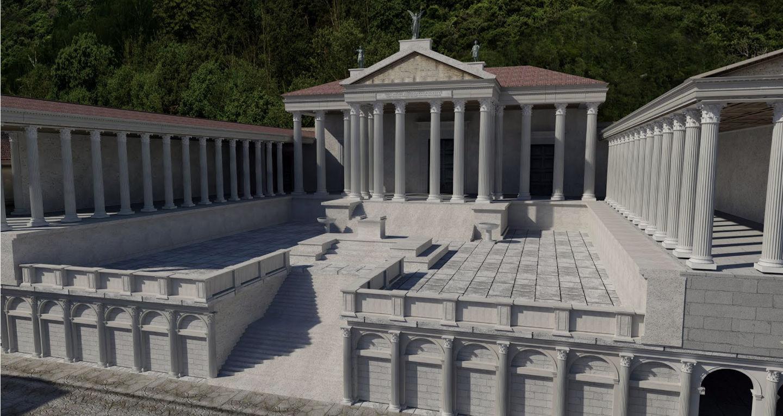 Ricostruzione virtuale Capitolium I secolo a.C.