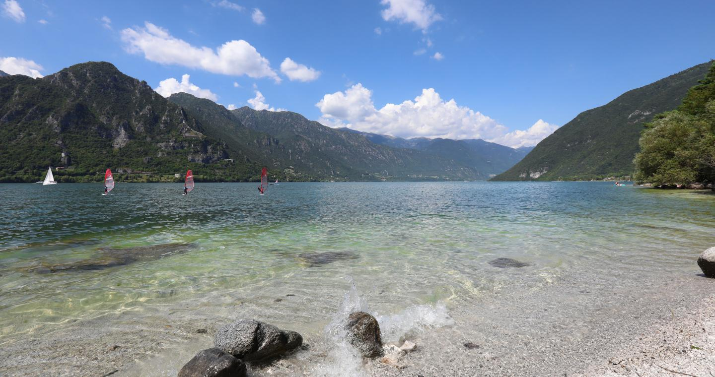 View of Idro lake from Vesta beach