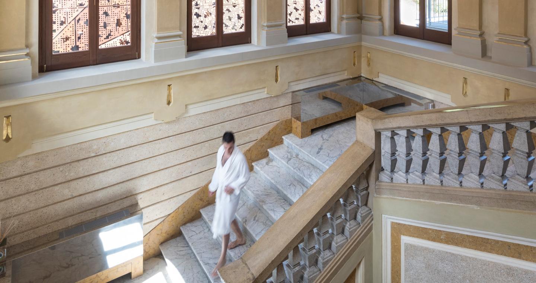 L'elegante centro termale di San Pellegrino, Bergamo.