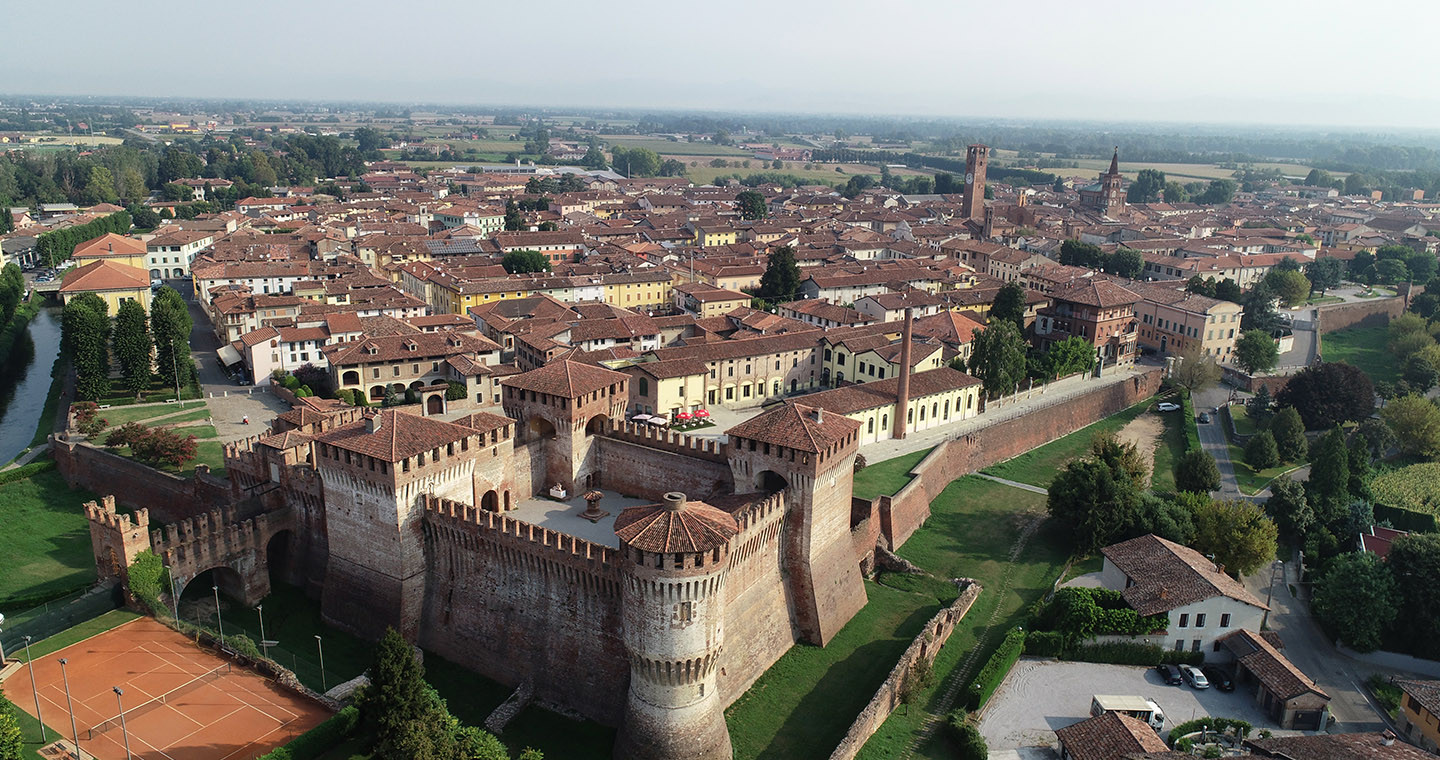 Vista panoramica di Soncino (CR)