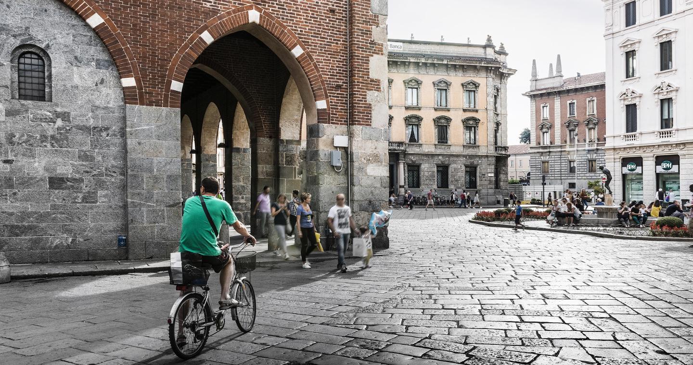 Uno scorcio del Palazzo dell'Arengario a Monza.