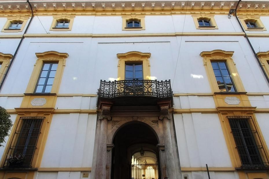 Facciata di Palazzo Barni