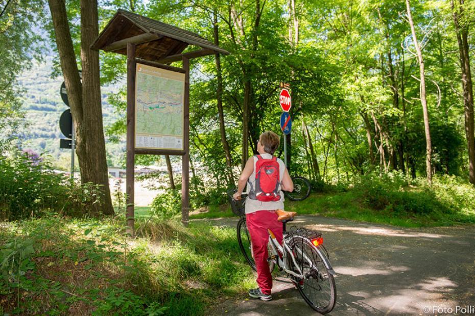 Two biking lanes among breathtaking landscapes