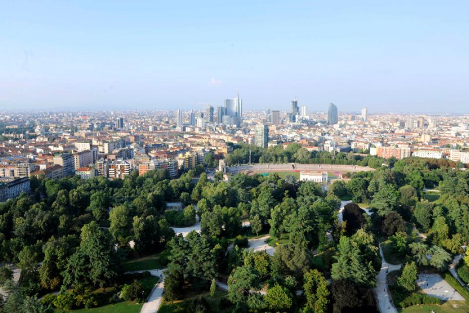 Admire Milan from above