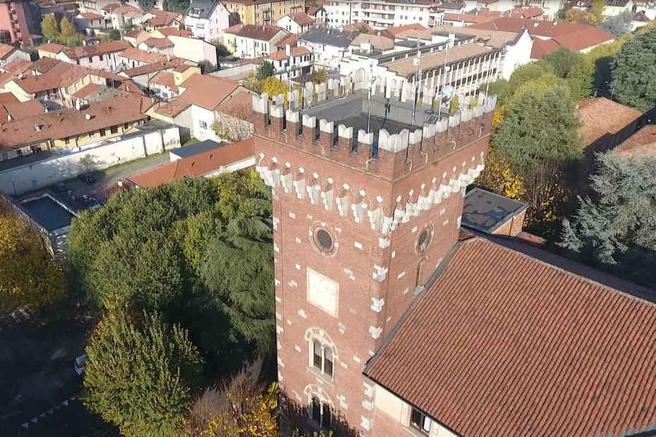 Il Palazzo Comunale visto dall'alto
