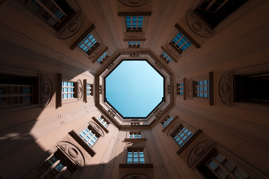 Looking up at Casa Rossi